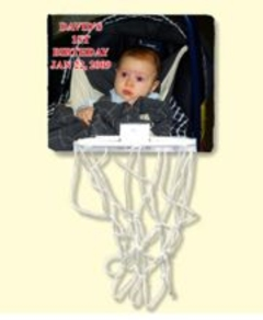 Personalized Photo Basketball Mini Backboard
