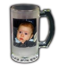 Personalized Photo Frosted Beer Mug