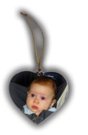 Personalized Heart Shaped Christmas Ornament