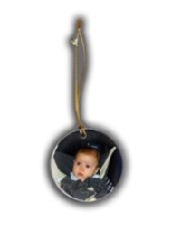 Personalized Round Shaped Christmas Ornament
