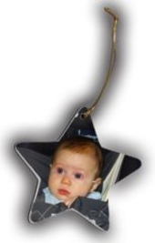 Personalized Star Photo Christmas Ornament