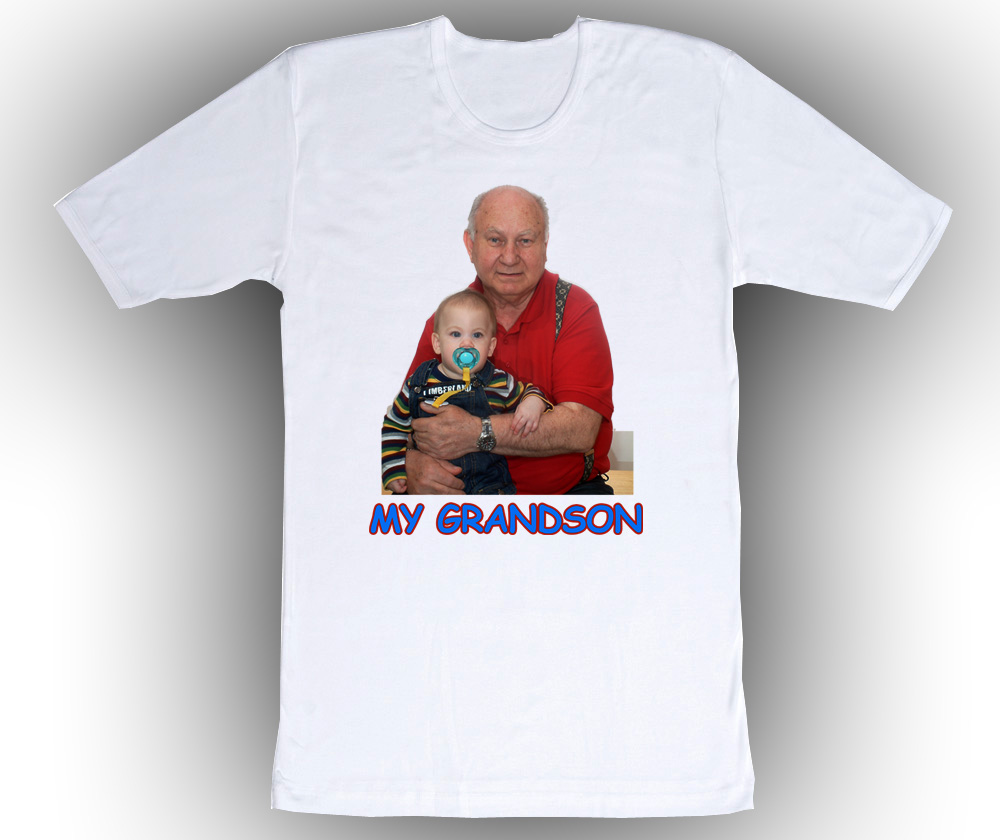 Personalized Photo T Shirts  White Cotton